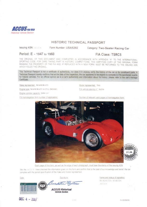 Maserati Tipo 61 Birdcage #13