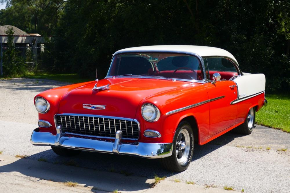 1955 Chevrolet Bel Air -BIG BLOCK-PERFECT COLOR COMBO-NEW ARRIVAL-SEE VIDEO Stock # 156NSC for sale near Mundelein, IL   IL Chevrolet Dealer #4