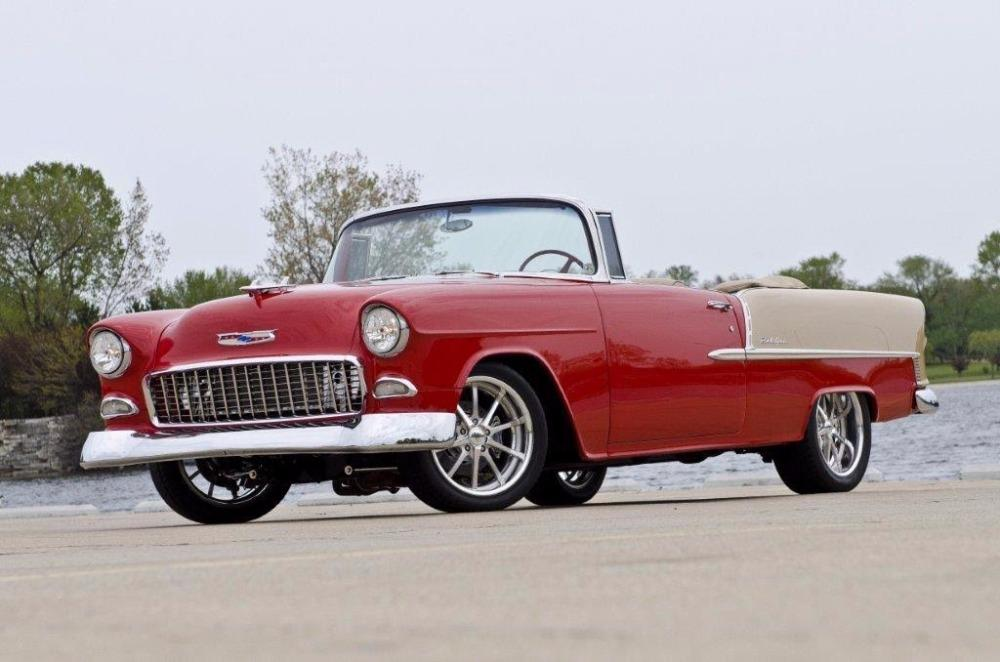 1955 Chevrolet Bel Air CUSTOM PRO TOURING BUILD-CONVERTIBLE-SHOWCAR CONDITION-PRISITINE- SEE VIDEO Stock # 55200WAC for sale near Mundelein, IL | IL Chevrolet Dealer #1