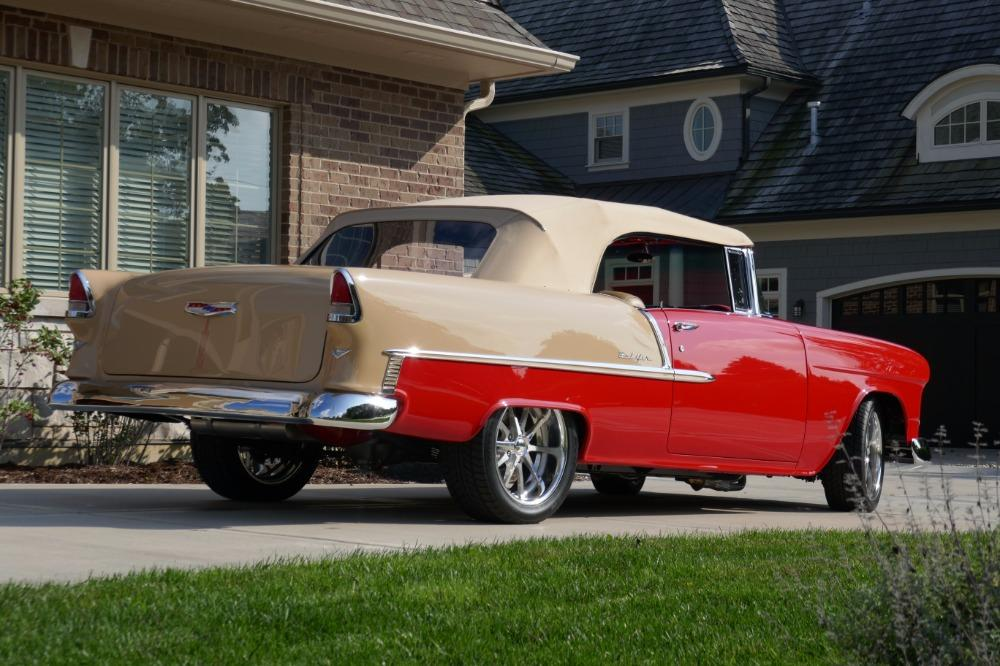 1955 Chevrolet Bel Air CUSTOM PRO TOURING BUILD-CONVERTIBLE-SHOWCAR CONDITION-PRISITINE- SEE VIDEO Stock # 55200WAC for sale near Mundelein, IL | IL Chevrolet Dealer #12