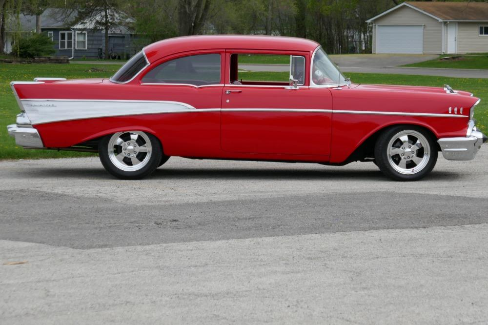 1957 Chevrolet 210 -HIGH END INVESTMENT-AMAZING PAINT AND QUALITY-TRI FIVE-NEW LOWERED PRICE - Stock # 57283CVJM for sale near Mundelein, IL | IL Chevrolet Dealer #1