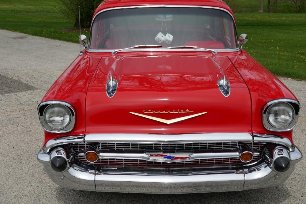 1957 Chevrolet 210 -HIGH END INVESTMENT-AMAZING PAINT AND QUALITY-TRI FIVE-NEW LOWERED PRICE - Stock # 57283CVJM for sale near Mundelein, IL | IL Chevrolet Dealer #8
