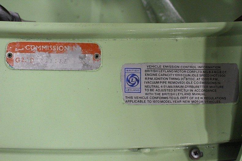 1970 MG MGB GT #58