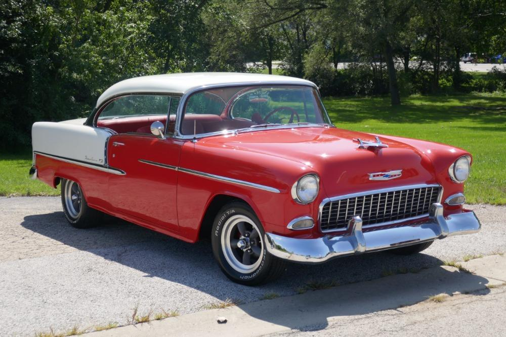 1955 Chevrolet Bel Air -BIG BLOCK-PERFECT COLOR COMBO-NEW ARRIVAL-SEE VIDEO Stock # 156NSC for sale near Mundelein, IL   IL Chevrolet Dealer #2