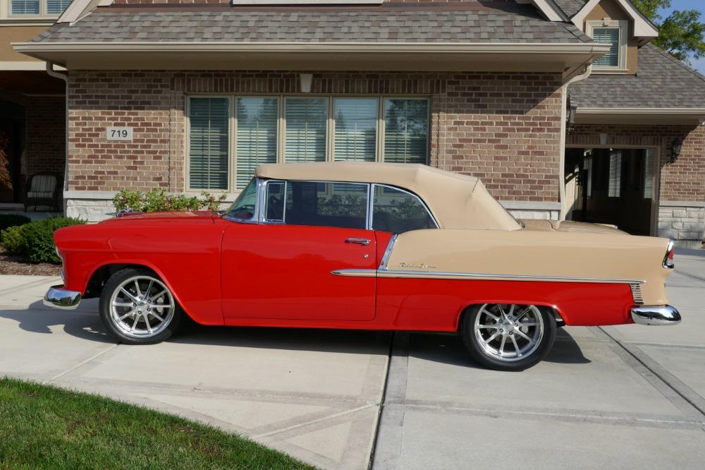 1955 Chevrolet Bel Air CUSTOM PRO TOURING BUILD-CONVERTIBLE-SHOWCAR CONDITION-PRISITINE- SEE VIDEO Stock # 55200WAC for sale near Mundelein, IL | IL Chevrolet Dealer #9