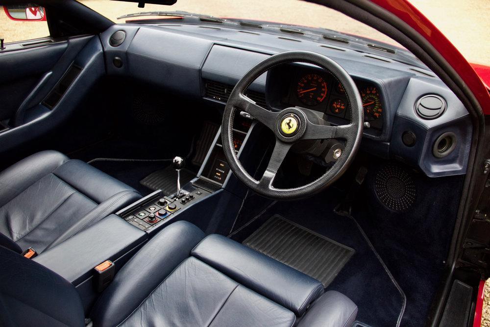 1988 Ferrari Testarossa RHD Rosso Corsa with Blu Scuro #22