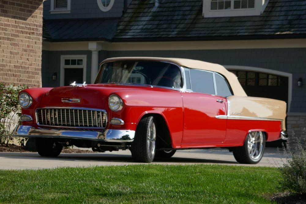 1955 Chevrolet Bel Air CUSTOM PRO TOURING BUILD-CONVERTIBLE-SHOWCAR CONDITION-PRISITINE- SEE VIDEO Stock # 55200WAC for sale near Mundelein, IL | IL Chevrolet Dealer #13