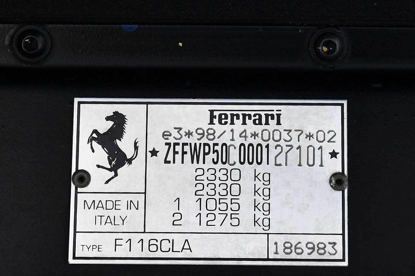 2003 Ferrari 456M GTA RHD #10