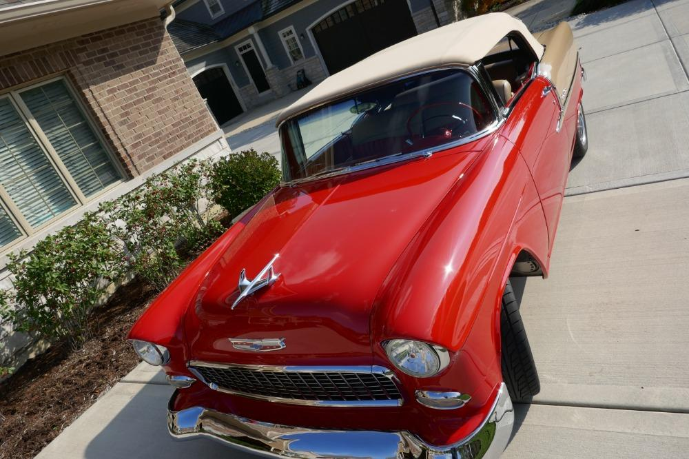 1955 Chevrolet Bel Air CUSTOM PRO TOURING BUILD-CONVERTIBLE-SHOWCAR CONDITION-PRISITINE- SEE VIDEO Stock # 55200WAC for sale near Mundelein, IL | IL Chevrolet Dealer #80