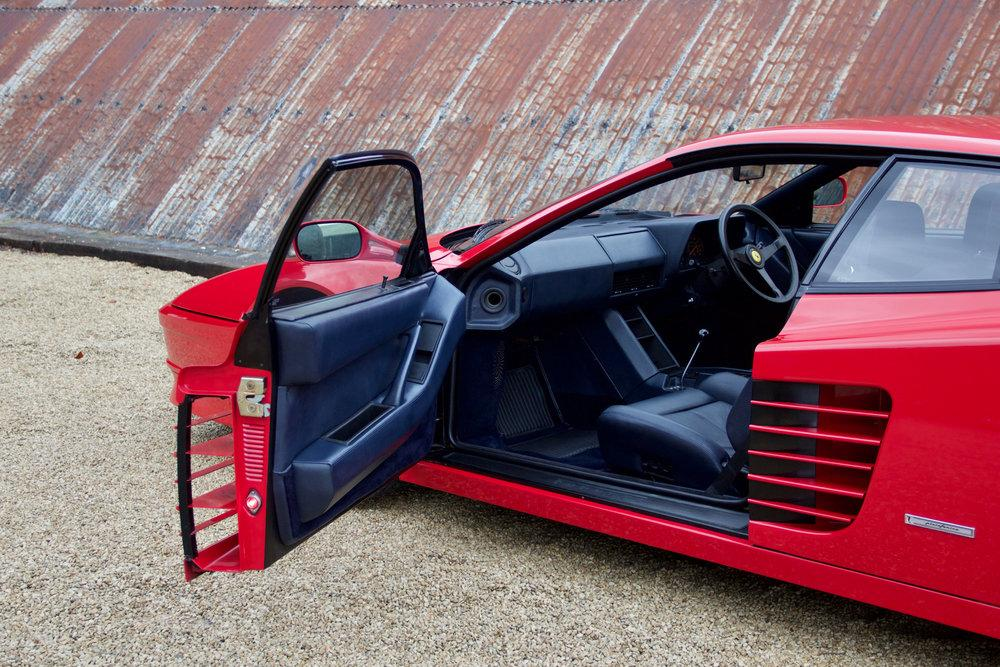 1988 Ferrari Testarossa RHD Rosso Corsa with Blu Scuro #20
