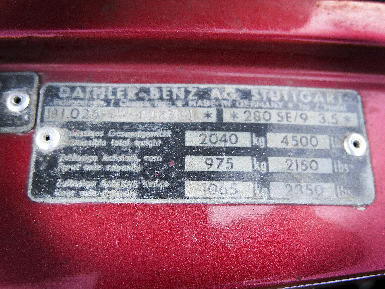 Mercedes-Benz 280SE  3.5 COUPE 1971 #7