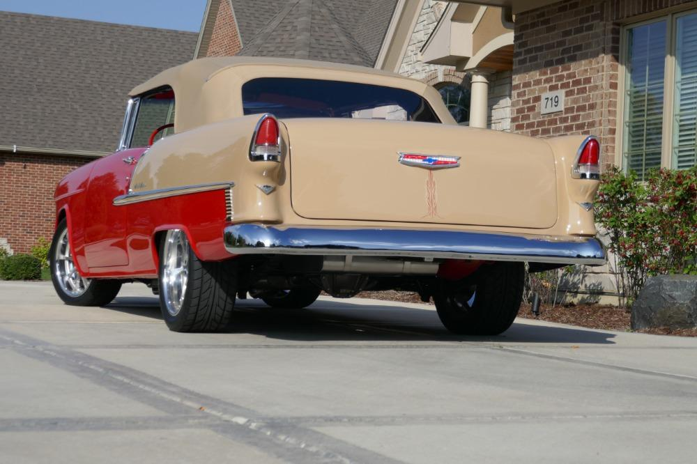 1955 Chevrolet Bel Air CUSTOM PRO TOURING BUILD-CONVERTIBLE-SHOWCAR CONDITION-PRISITINE- SEE VIDEO Stock # 55200WAC for sale near Mundelein, IL | IL Chevrolet Dealer #5