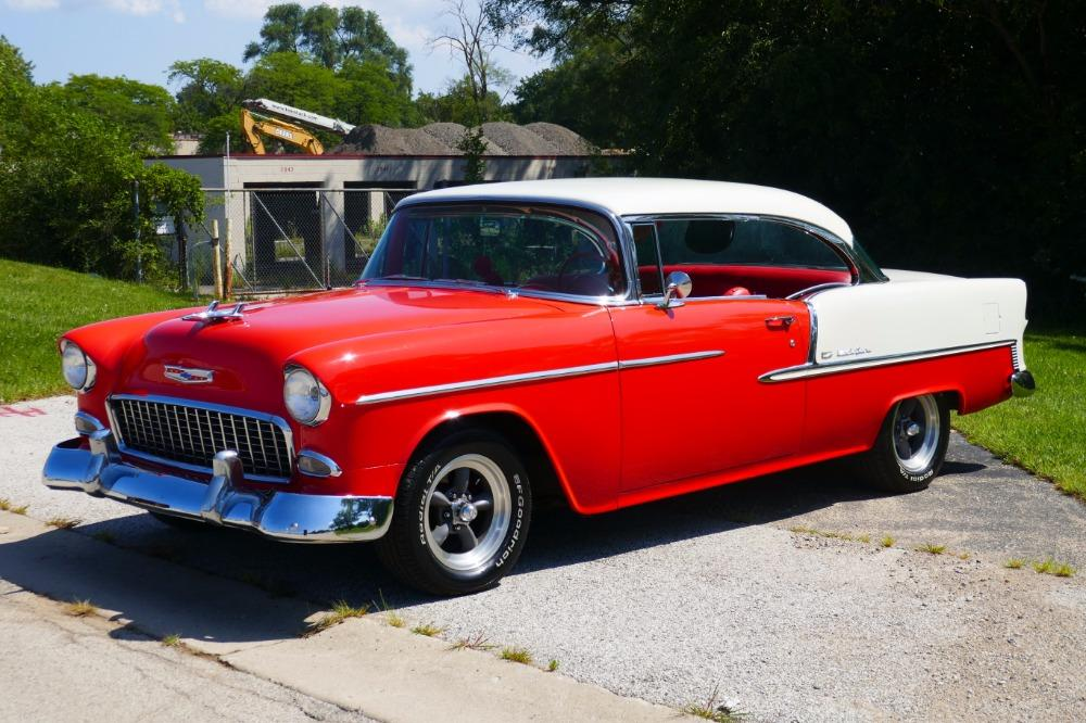 1955 Chevrolet Bel Air -BIG BLOCK-PERFECT COLOR COMBO-NEW ARRIVAL-SEE VIDEO Stock # 156NSC for sale near Mundelein, IL | IL Chevrolet Dealer #0