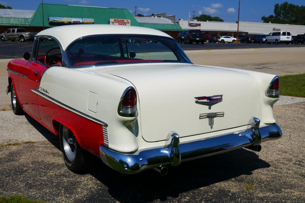 1955 Chevrolet Bel Air -BIG BLOCK-PERFECT COLOR COMBO-NEW ARRIVAL-SEE VIDEO Stock # 156NSC for sale near Mundelein, IL   IL Chevrolet Dealer #9