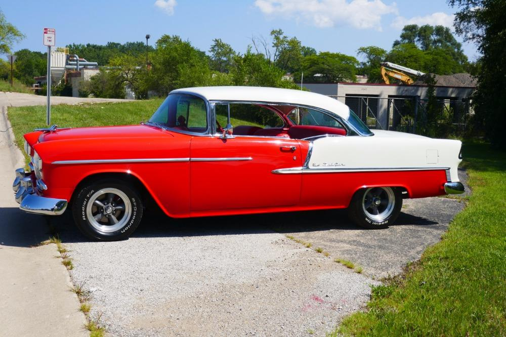 1955 Chevrolet Bel Air -BIG BLOCK-PERFECT COLOR COMBO-NEW ARRIVAL-SEE VIDEO Stock # 156NSC for sale near Mundelein, IL   IL Chevrolet Dealer #5