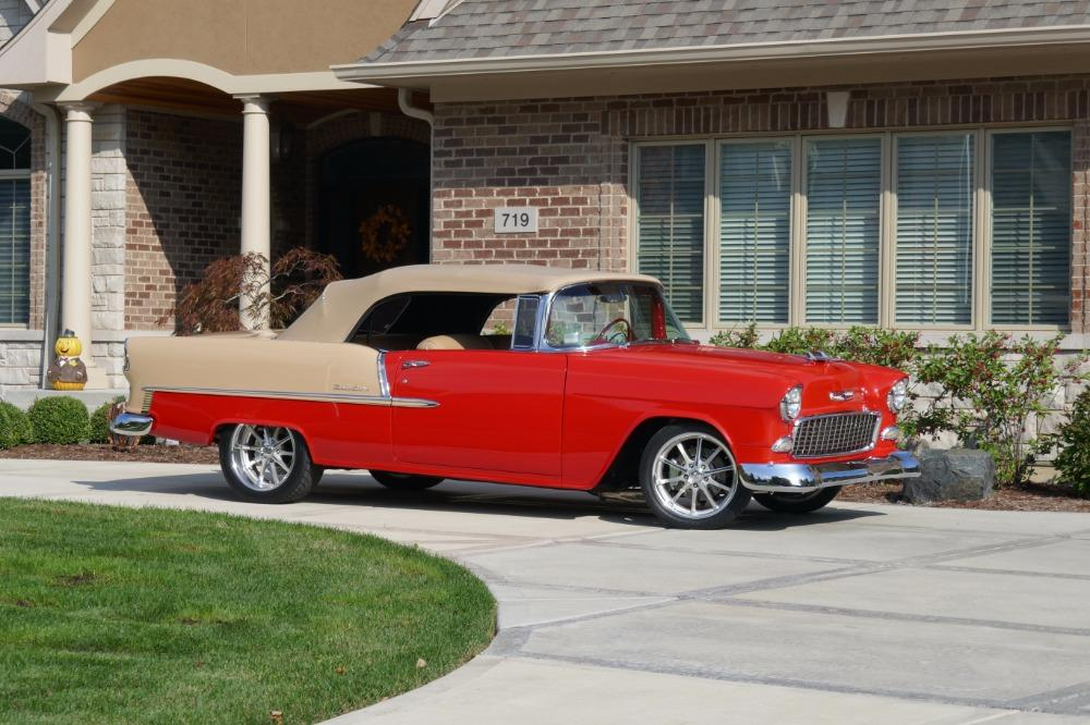 1955 Chevrolet Bel Air CUSTOM PRO TOURING BUILD-CONVERTIBLE-SHOWCAR CONDITION-PRISITINE- SEE VIDEO Stock # 55200WAC for sale near Mundelein, IL | IL Chevrolet Dealer #8
