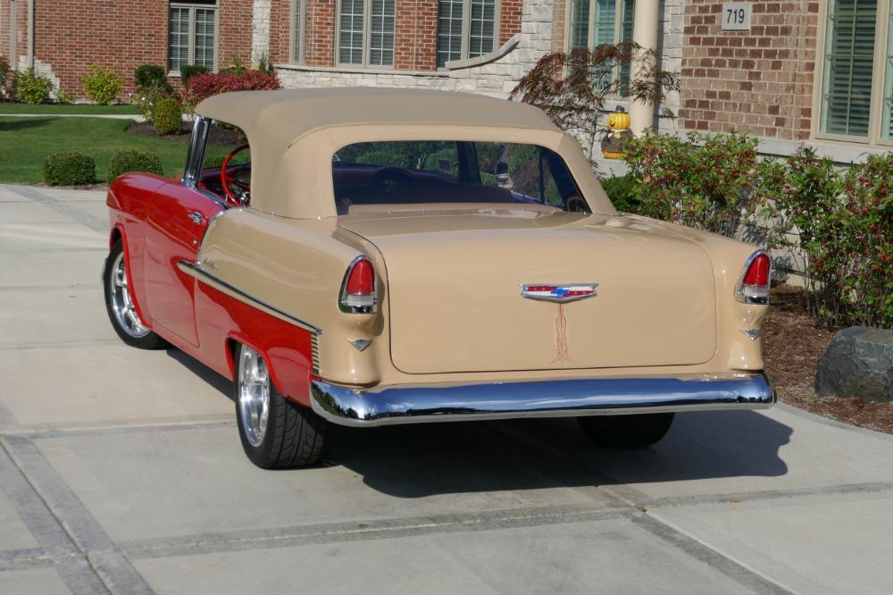 1955 Chevrolet Bel Air CUSTOM PRO TOURING BUILD-CONVERTIBLE-SHOWCAR CONDITION-PRISITINE- SEE VIDEO Stock # 55200WAC for sale near Mundelein, IL | IL Chevrolet Dealer #10