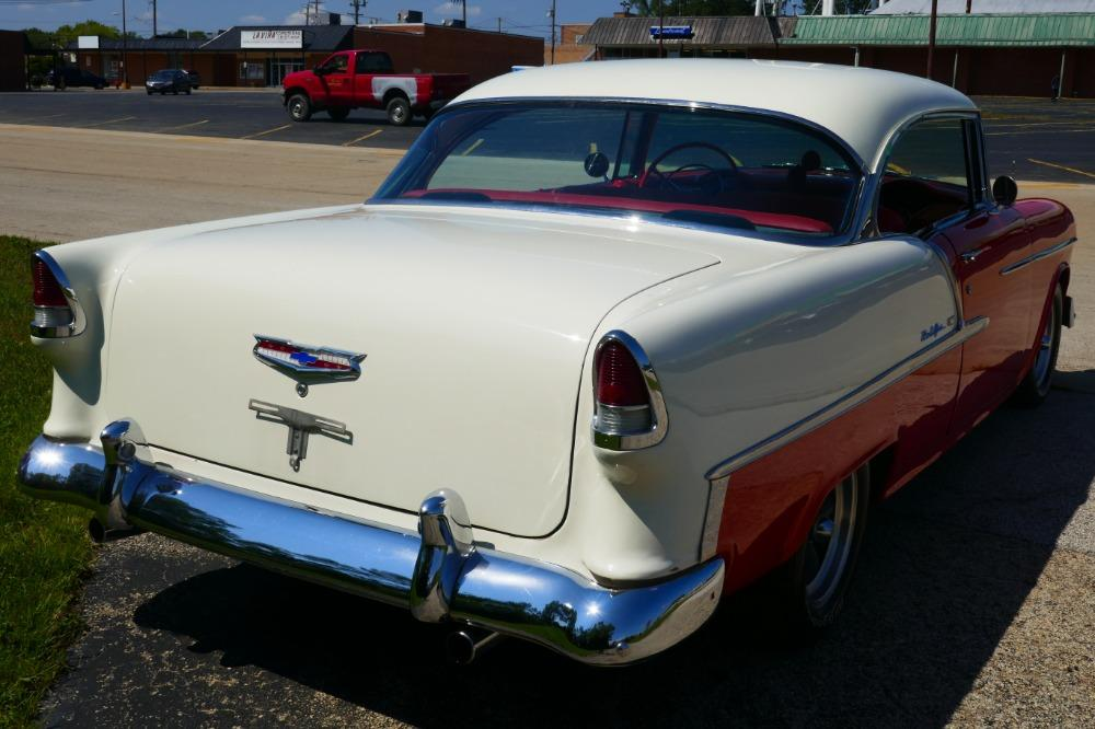 1955 Chevrolet Bel Air -BIG BLOCK-PERFECT COLOR COMBO-NEW ARRIVAL-SEE VIDEO Stock # 156NSC for sale near Mundelein, IL   IL Chevrolet Dealer #11