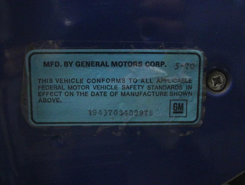 1970 Chevrolet Corvette #82