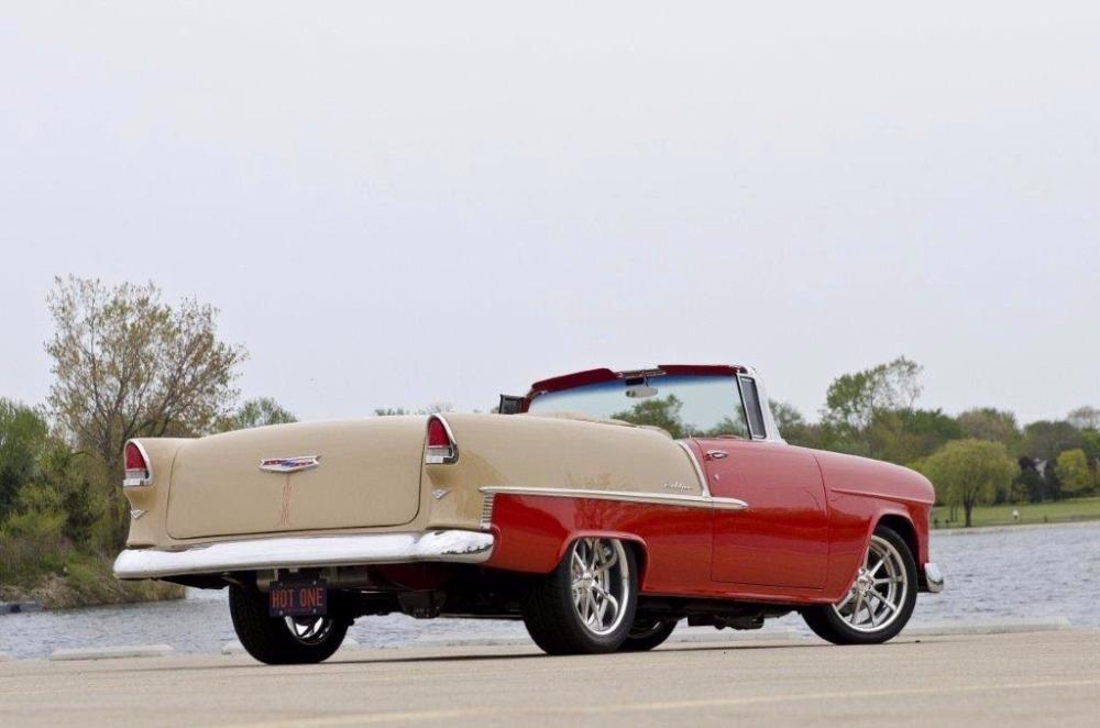 1955 Chevrolet Bel Air CUSTOM PRO TOURING BUILD-CONVERTIBLE-SHOWCAR CONDITION-PRISITINE- SEE VIDEO Stock # 55200WAC for sale near Mundelein, IL | IL Chevrolet Dealer #4