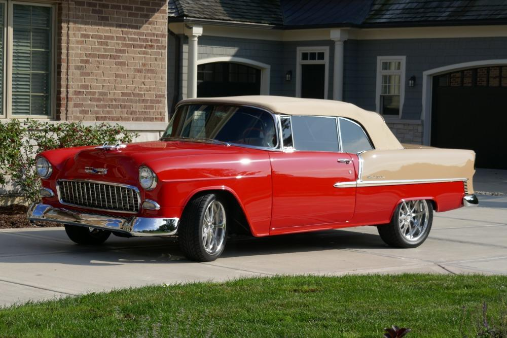 1955 Chevrolet Bel Air CUSTOM PRO TOURING BUILD-CONVERTIBLE-SHOWCAR CONDITION-PRISITINE- SEE VIDEO Stock # 55200WAC for sale near Mundelein, IL | IL Chevrolet Dealer #7