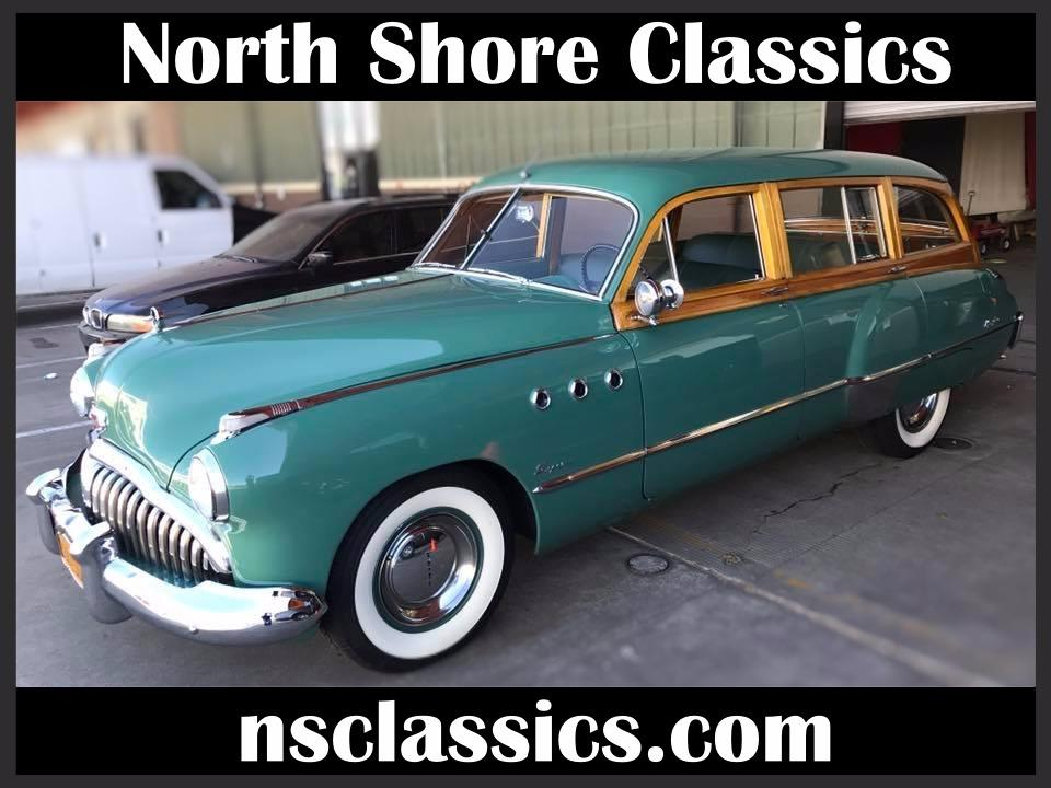 1949 Buick Series 50 -RARE WOODY WAGON- ONLY 653 BUILT-Super Estate Wagon Stock # 849CAMK for sale near Mundelein, IL | IL Buick Dealer #0
