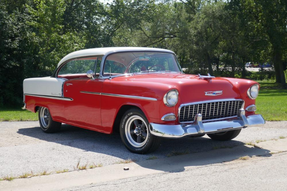 1955 Chevrolet Bel Air -BIG BLOCK-PERFECT COLOR COMBO-NEW ARRIVAL-SEE VIDEO Stock # 156NSC for sale near Mundelein, IL   IL Chevrolet Dealer #1