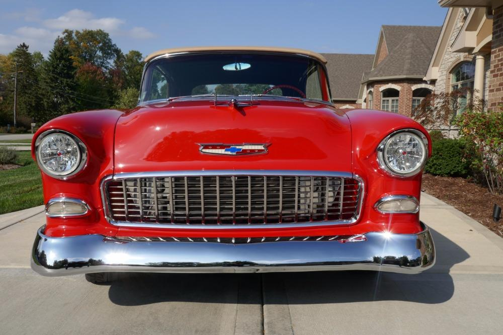 1955 Chevrolet Bel Air CUSTOM PRO TOURING BUILD-CONVERTIBLE-SHOWCAR CONDITION-PRISITINE- SEE VIDEO Stock # 55200WAC for sale near Mundelein, IL | IL Chevrolet Dealer #11