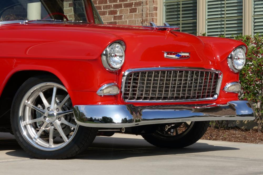 1955 Chevrolet Bel Air CUSTOM PRO TOURING BUILD-CONVERTIBLE-SHOWCAR CONDITION-PRISITINE- SEE VIDEO Stock # 55200WAC for sale near Mundelein, IL | IL Chevrolet Dealer #37