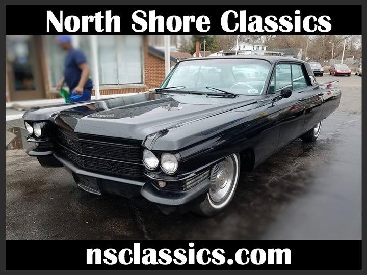 1963 Cadillac Coupe DeVille -COMPLETELY RESTORED- BLACK ON BLACK CADDY- Stock # 185342MI for sale near Mundelein, IL | IL Cadillac Dealer #0
