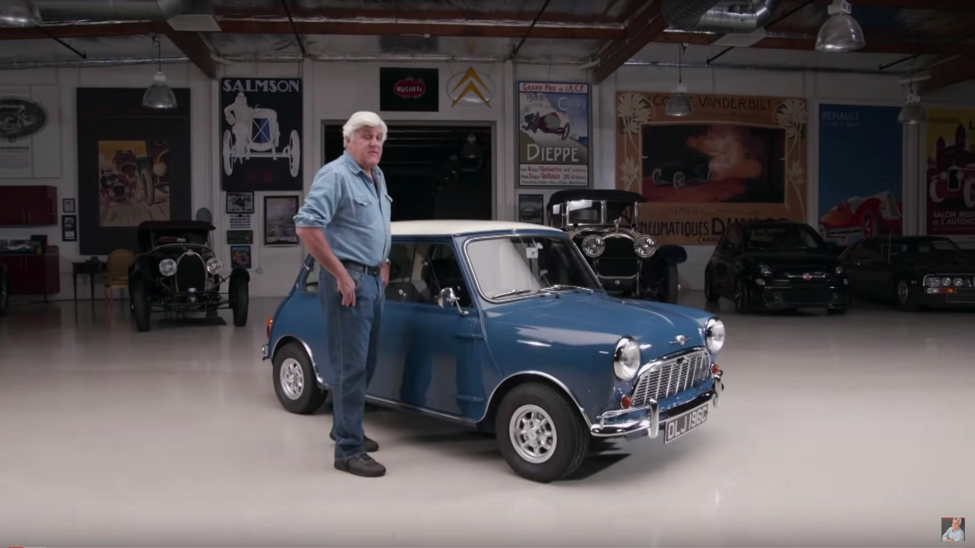 Watch Jay Leno fall in love with a classic British Mini