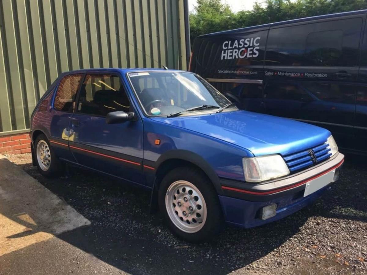 classified heroes: 1991 peugeot 205 gti with just 16k miles
