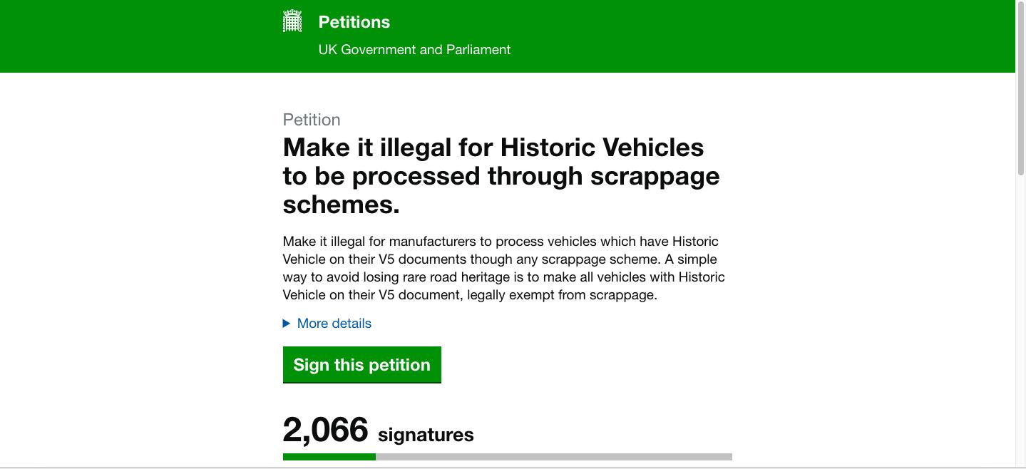 Sign the petition to save classics from scrappage