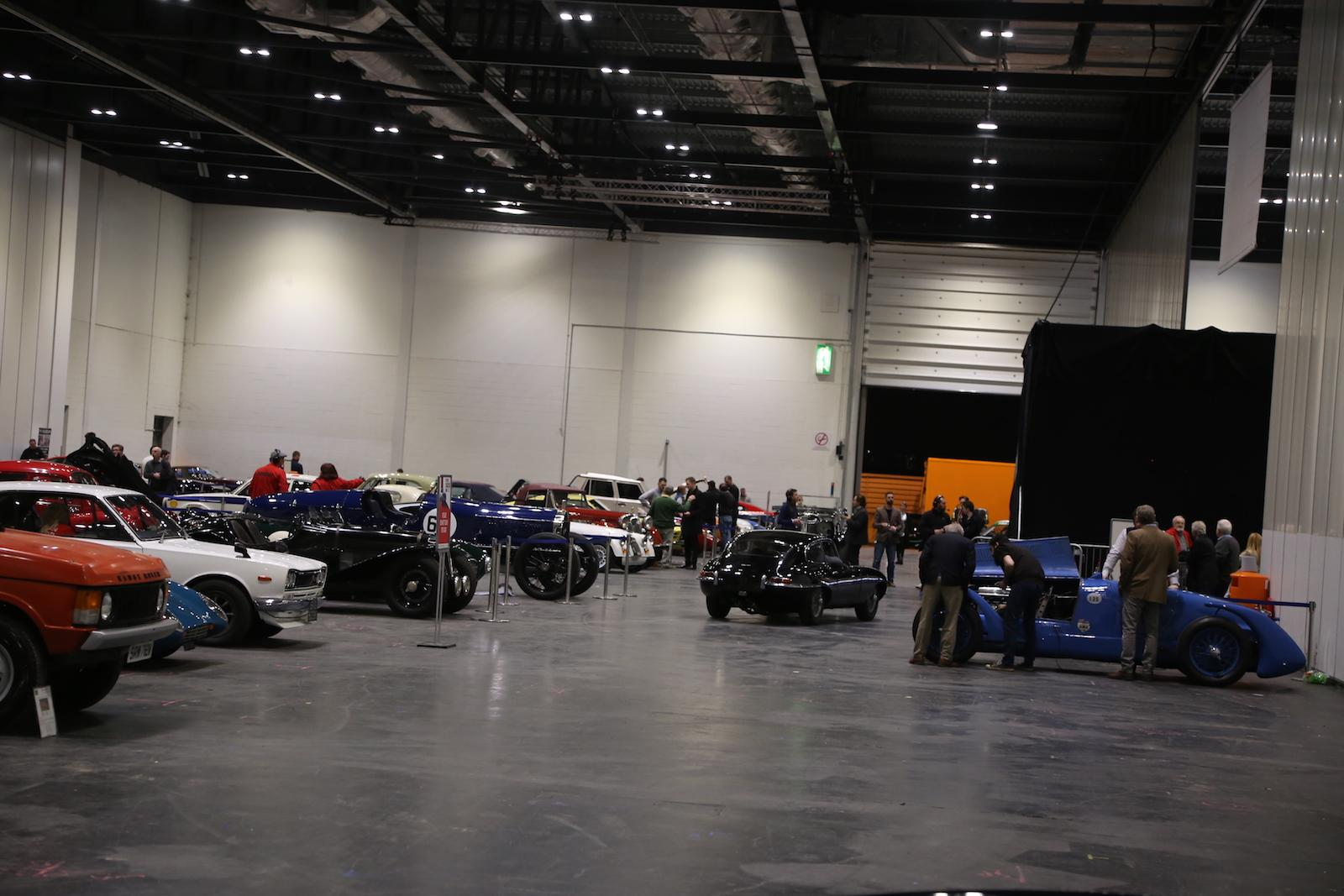 Behind the scenes at the London Classic Car Show