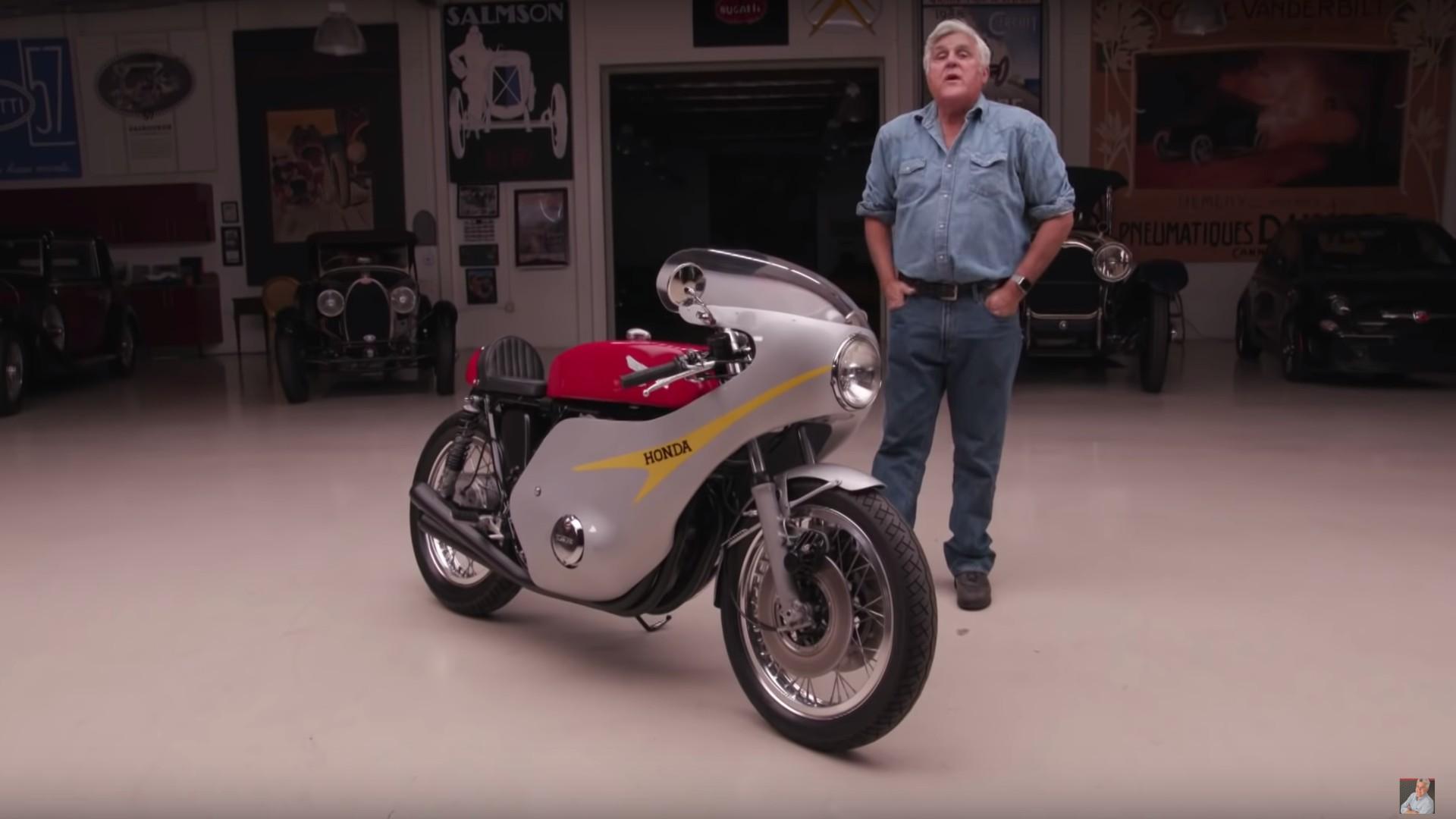 Jay Leno Takes A Custom 1973 Honda CR750 For A Ride