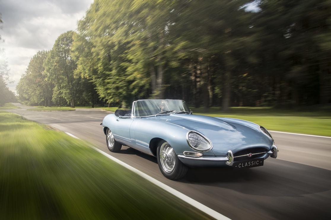 Jaguar unveils electric-powered E-type