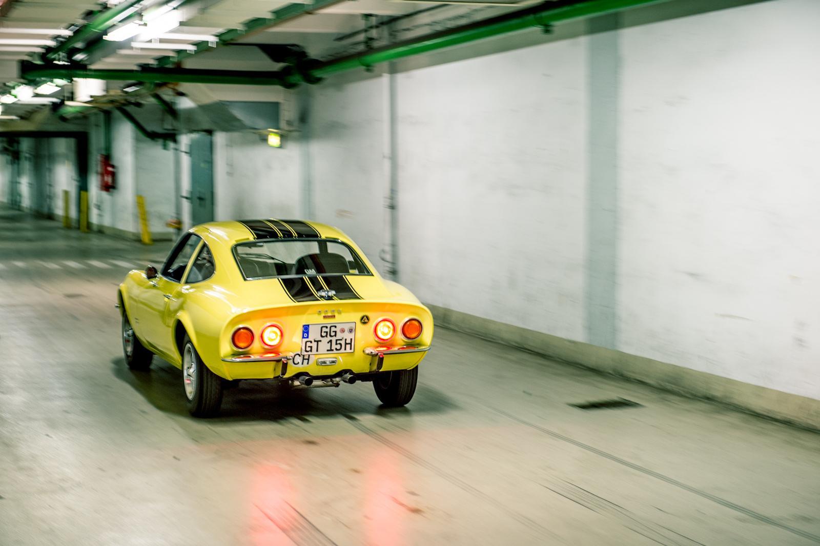 Going underground in an Opel GT