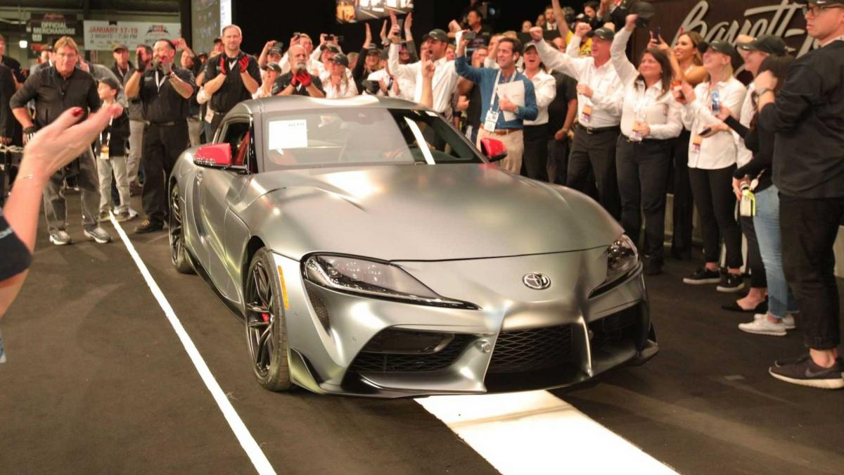 First production 2020 Toyota Supra sold for $2.1m at auction
